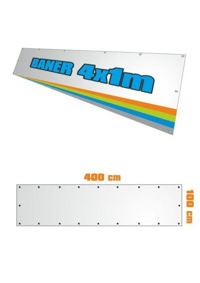 Banner 400x100 cm