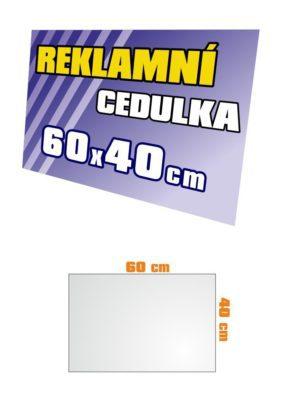 Cedule 60x40 cm