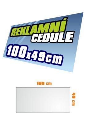 Cedule 100x49 cm