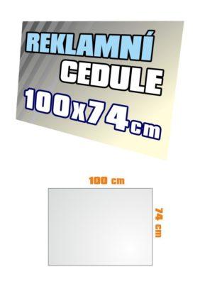 Cedule 100x74 cm