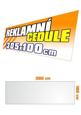Cedule 305x100 cm