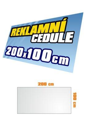 Cedule 200x100 cm
