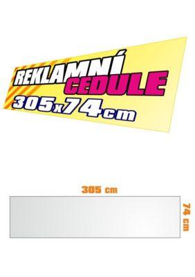 Cedule 305x74 cm
