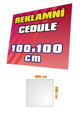 Cedule 100x100 cm