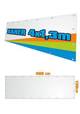 Banner 400x130 cm