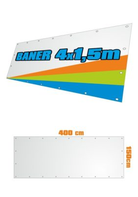 Banner 400x150 cm